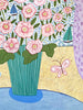 Original Artwork * Summer Hollyhocks