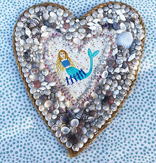 Original Artwork * Sailor's Valentine * Mermaid Love