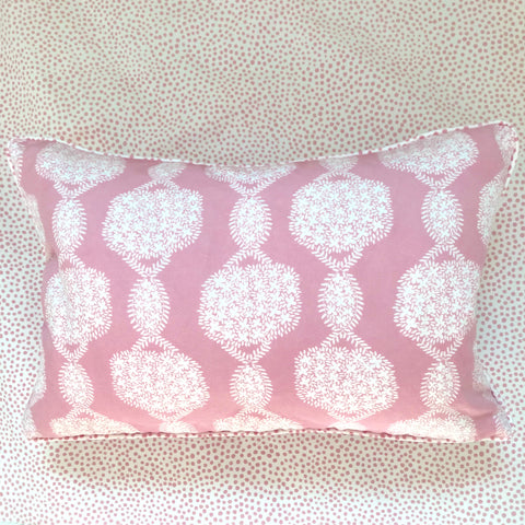 Pillows * 12 x 18 * Hydrangea White on Pink
