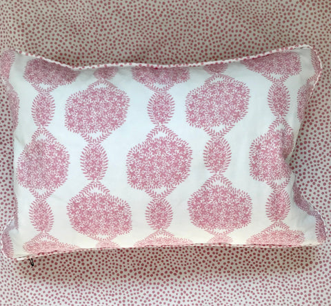 Pillows * 12 x 18 * Hydrangea Pink on White
