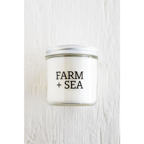 candle, farm + sea