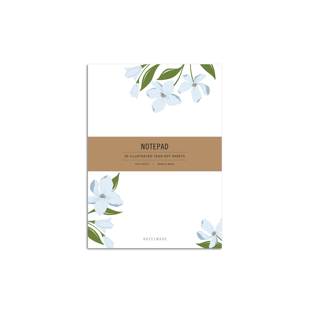Floral Notepad, Dogwood Bouquet
