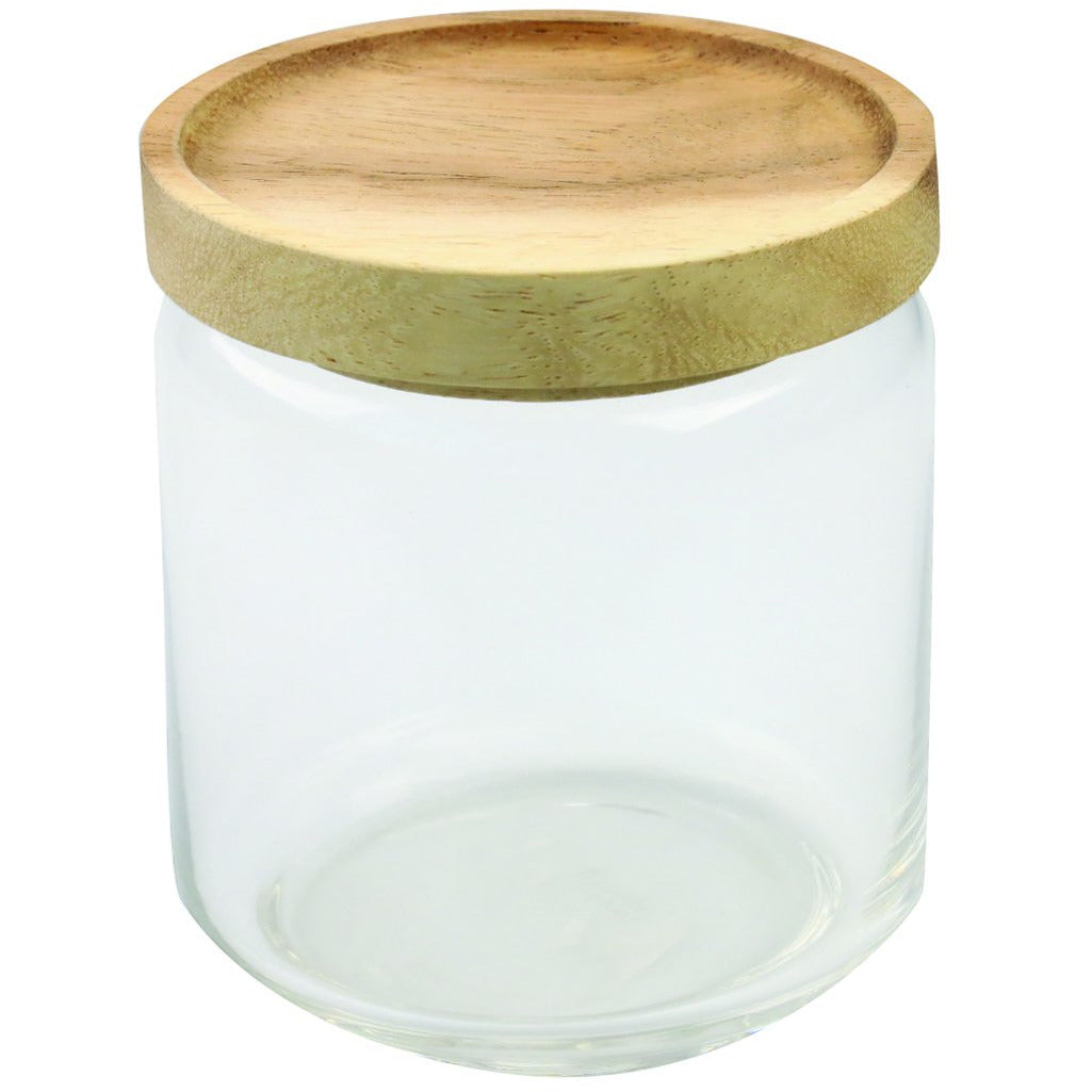 Glass Container with Wood Acacia Lid, Medium