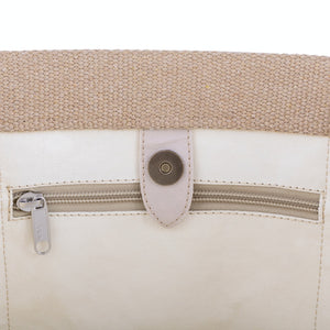 Genevieve Small Bag, Metallic Platinum
