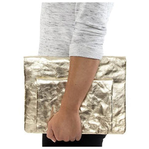 Marin Clutch, Metallic Platinum