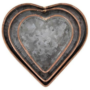 Metal Heart Tray