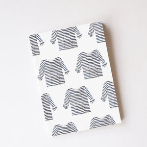 Sara Fitz Journal, Navy + White Striped Shirt