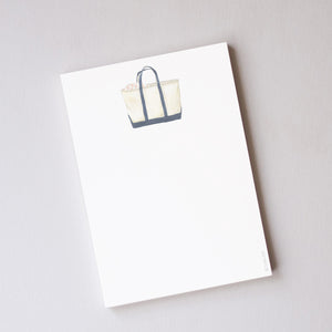 Sara Fitz Notepad, Canvas Tote