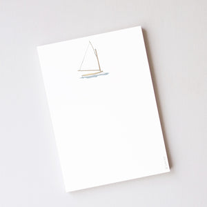Sara Fitz Notepad, Sailboat
