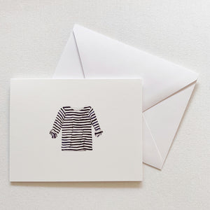 Navy + White Striped Shirt Card