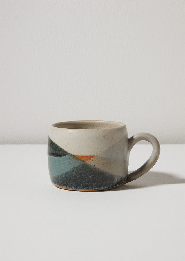 Liz Vidal Abstract Small Mug | Jade/Grey