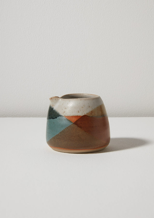 Liz Vidal Abstract Jug | Rust/Jade