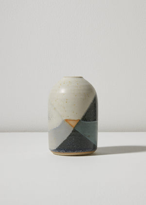 Liz Vidal Abstract Vase | Jade/Grey