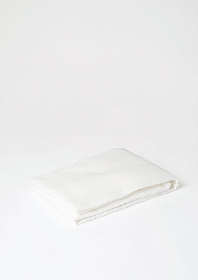 Washed Linen/Cotton Fitted Sheet | Ecru