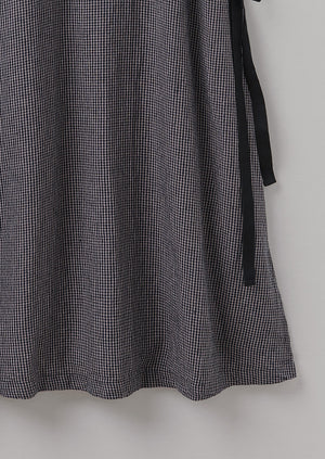 Gingham Pinafore Apron | Graphite/Midnight