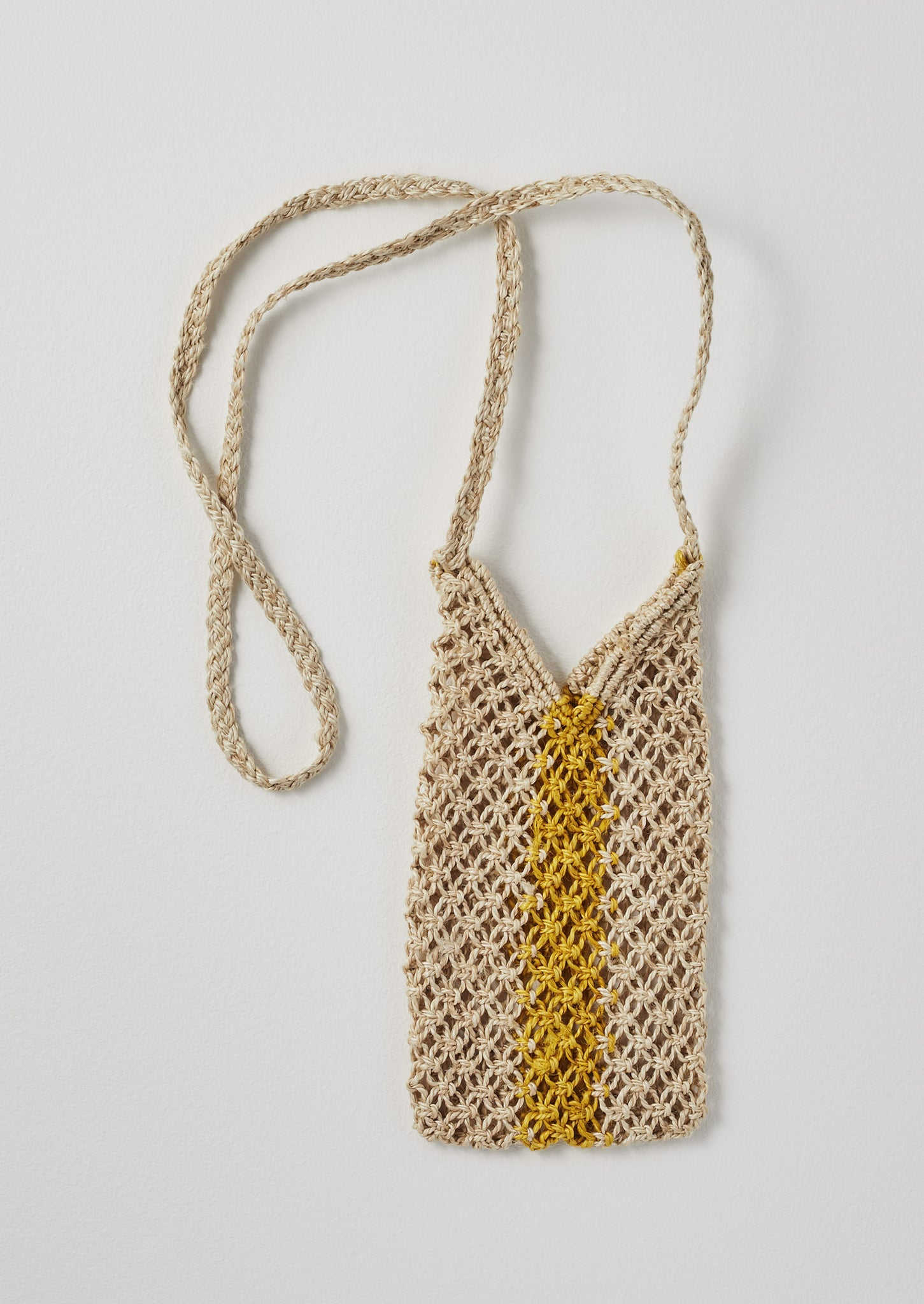 Jute Water Bottle Carrier | Natural/Ochre