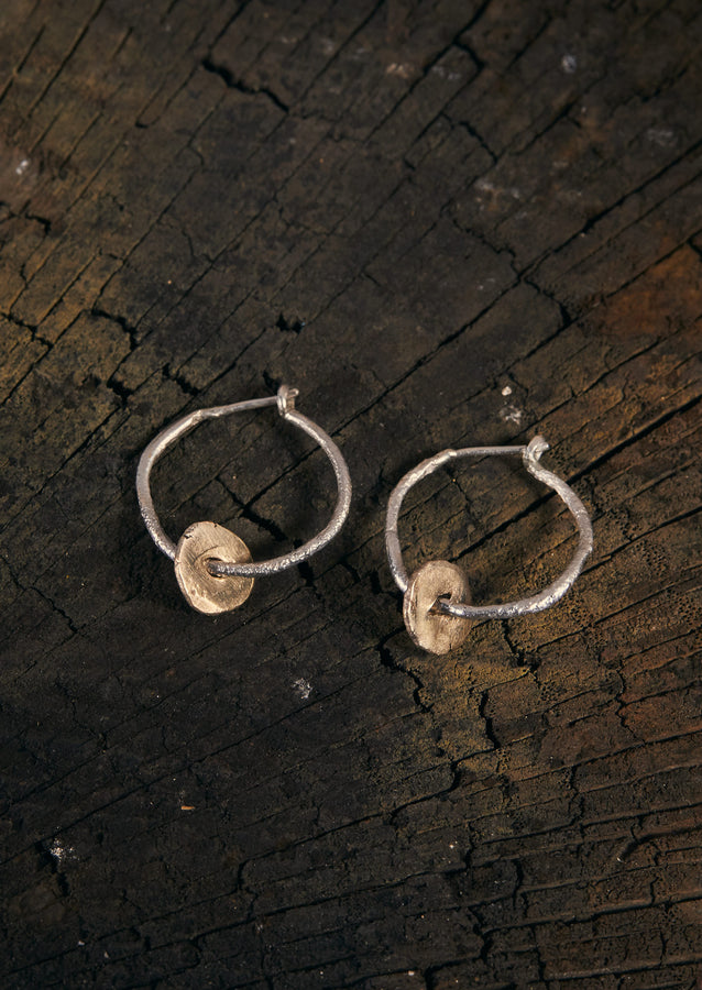 Jodie Metcalfe Coin Hoop Earrings | Gold/Silver