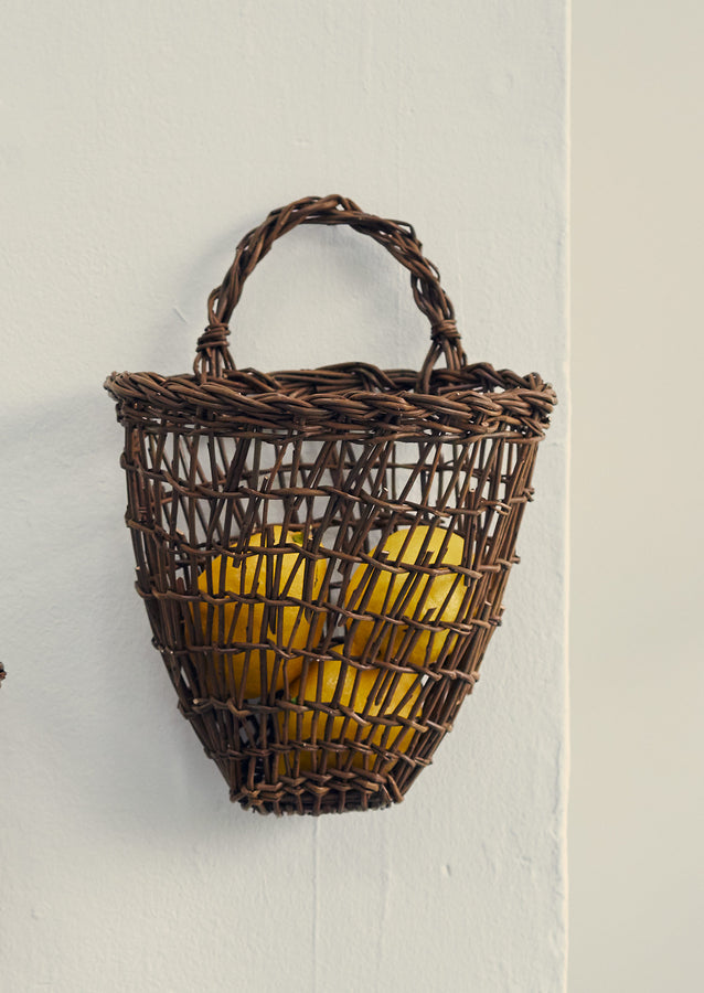 Julie Gurr Small Hanging Willow Basket | Natural