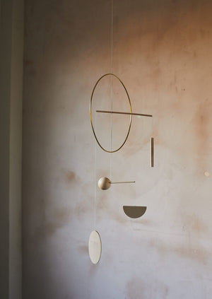 Corrie Williamson Hoop Mobile | Brass/Natural