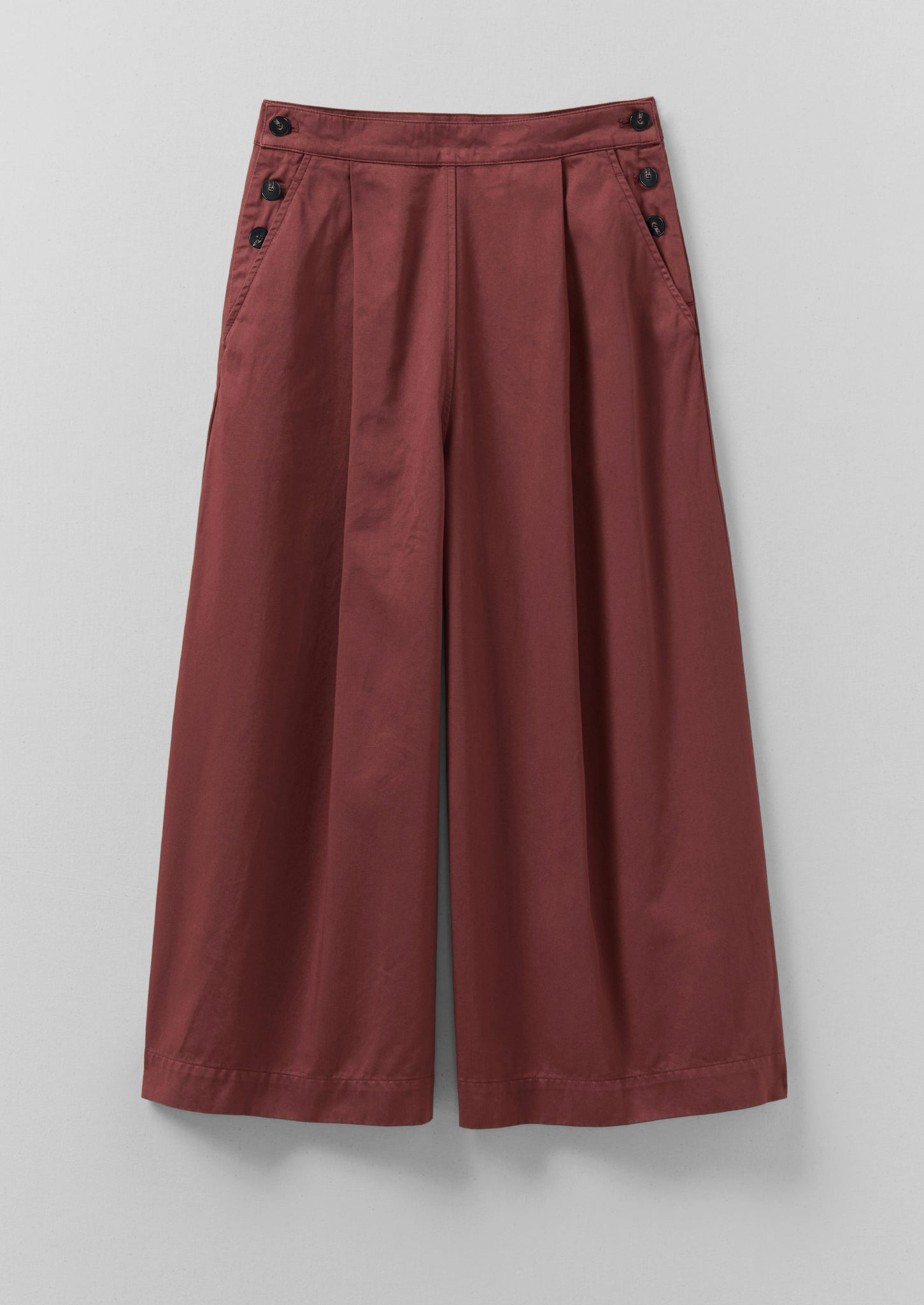 Lexi Cotton Sateen Culottes | Burnt Red