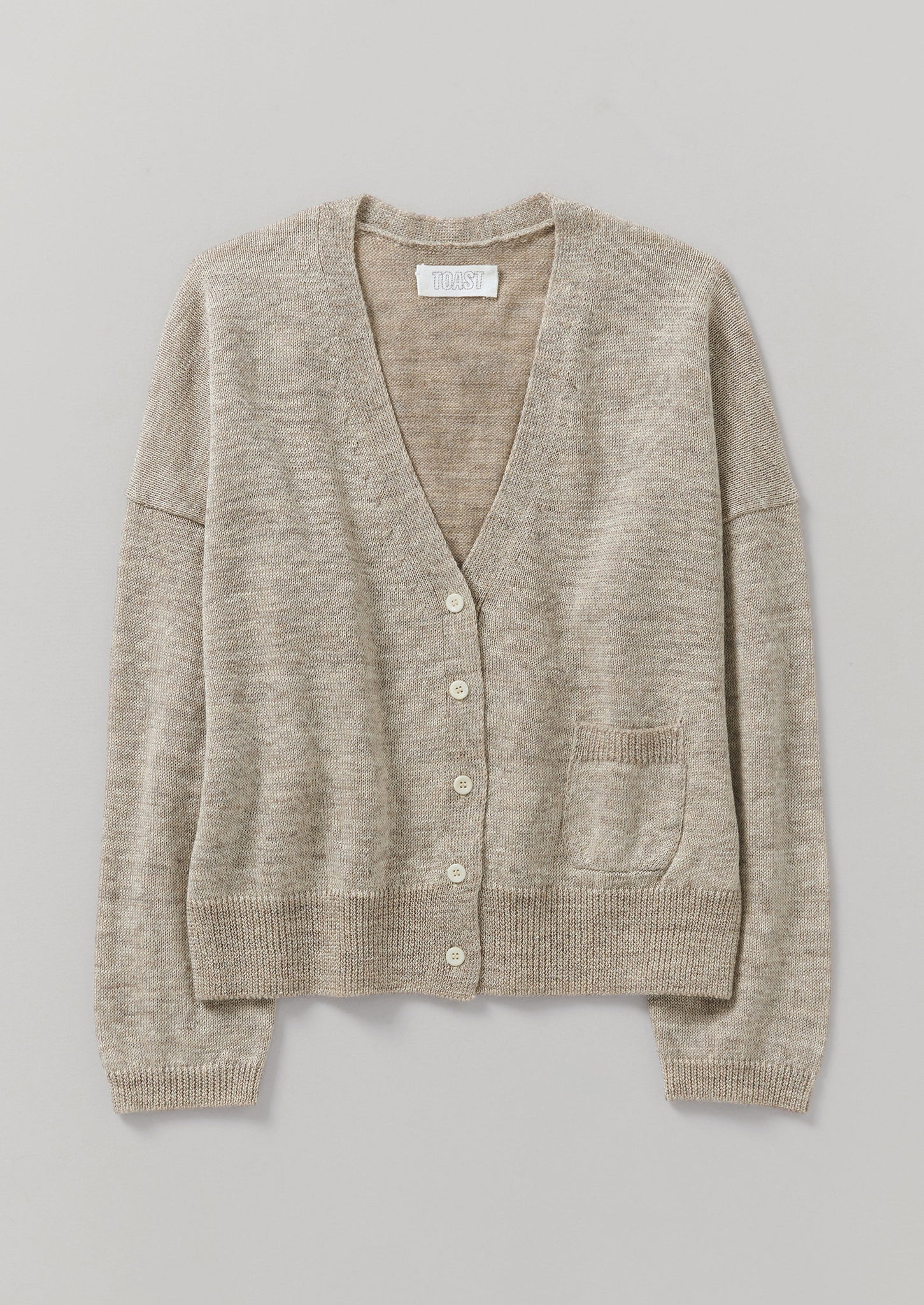 Wool Linen Easy Cardigan | Oatmeal