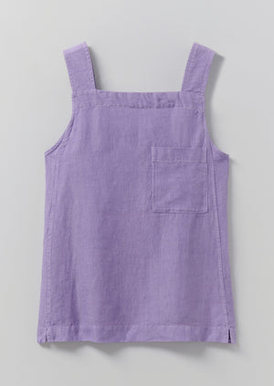 Garment Dyed Linen Tank Top | Lilac Blue