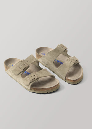 Birkenstock Arizona Suede Sandals | Faded Khaki