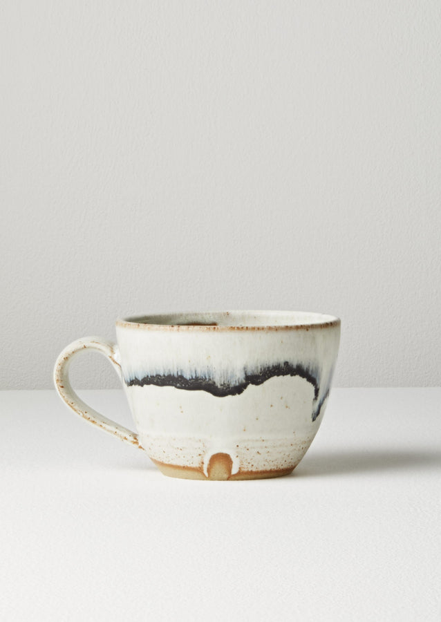 Pip Hartle Blurred Tea Cup | White/Black