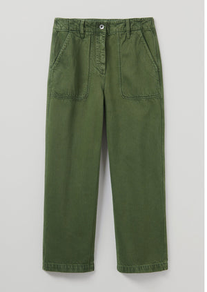 Ashley Garment Dyed Jeans | Moss Green