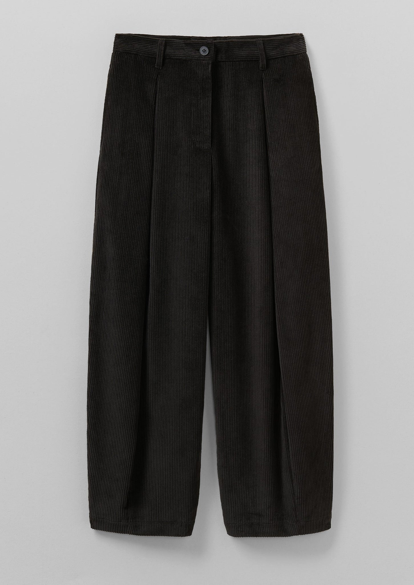Cord Dart Trousers | Brown Slate