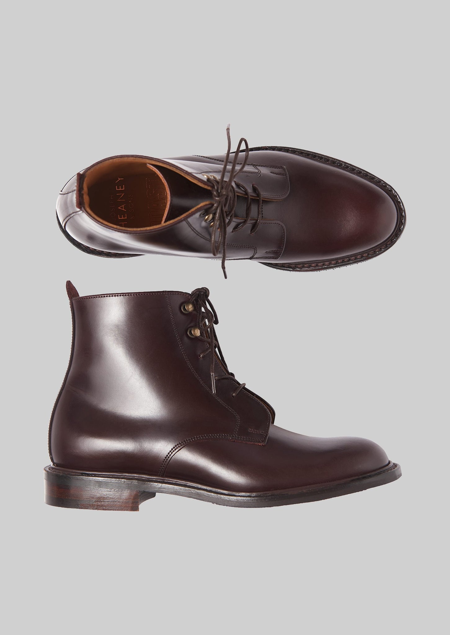 Cheaney Ivy Lace Up Boots | Burgundy