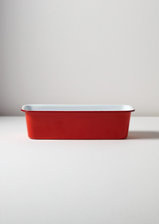 Falcon Enamel Loaf Tin | Red