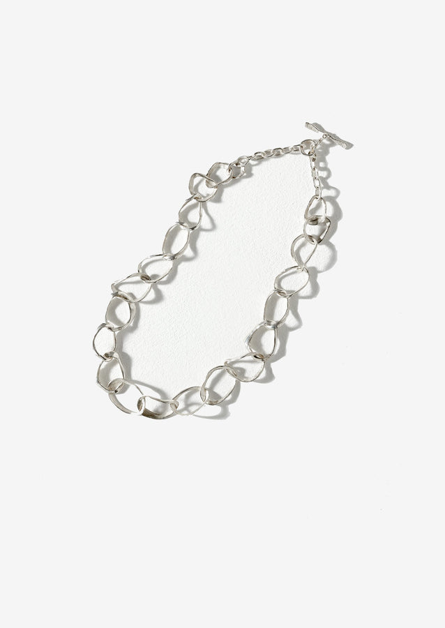 Emily Nixon Stone Drawing Necklace | Silver