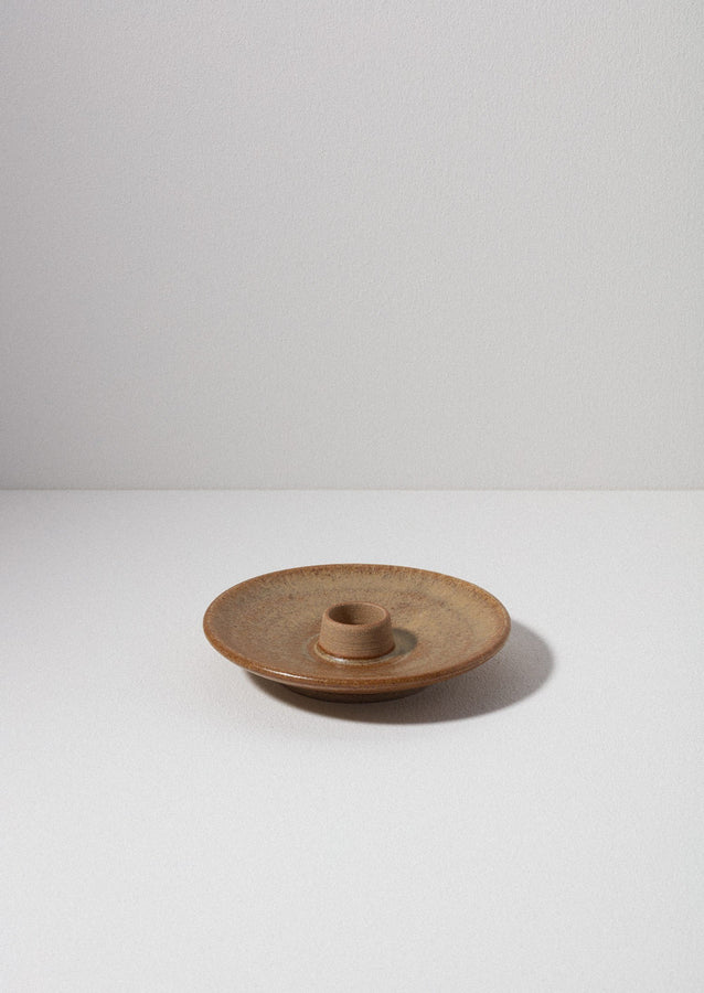 Pottery West Candle Holder | Mustard