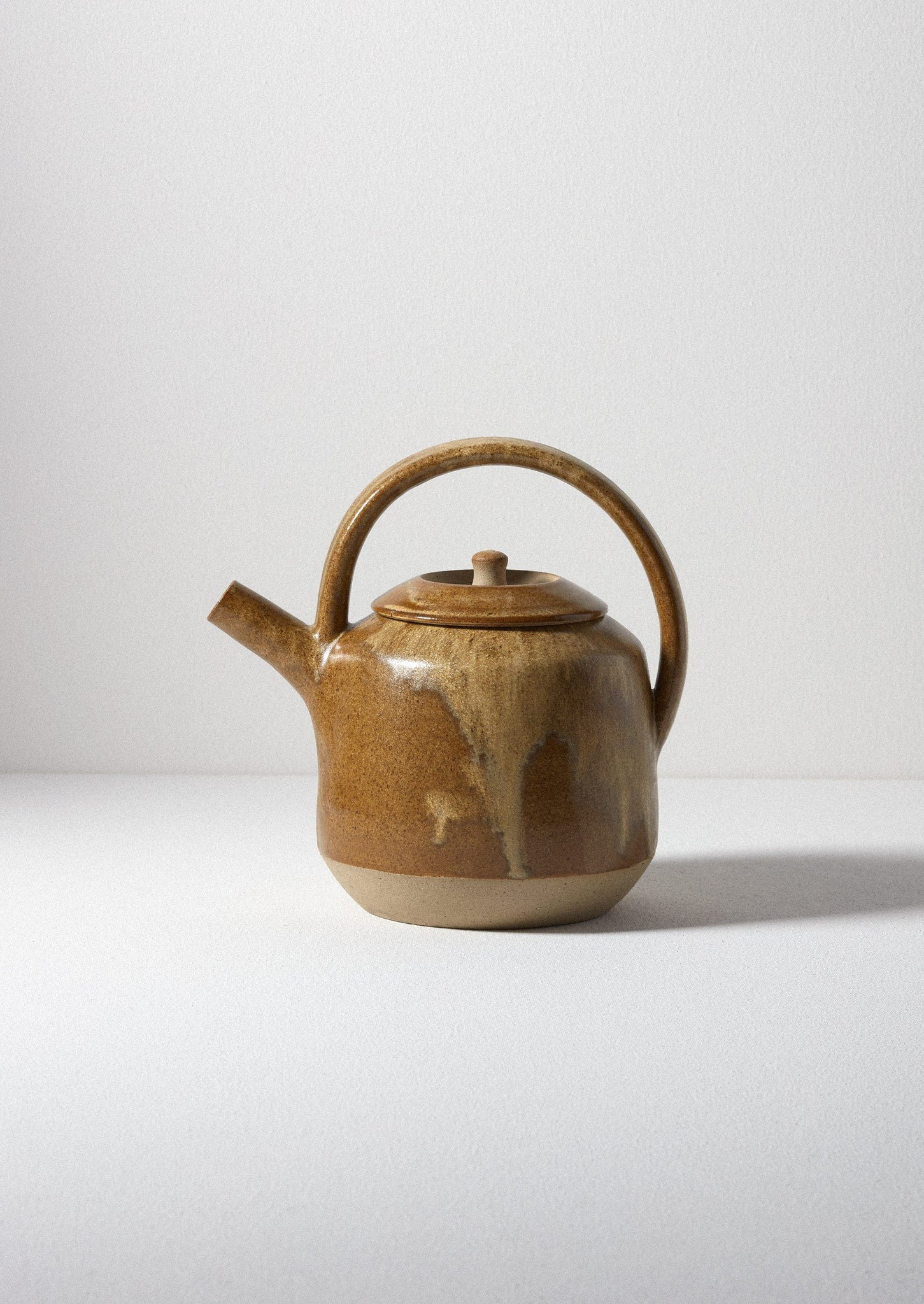 Pottery West Teapot | Mustard