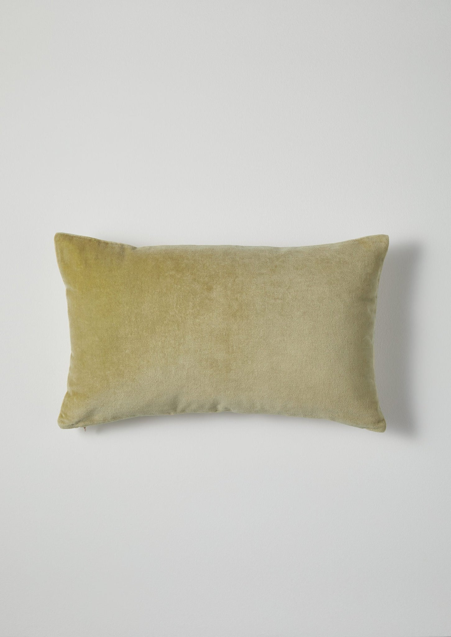 Rectangular Velvet Cushion Cover | Celery