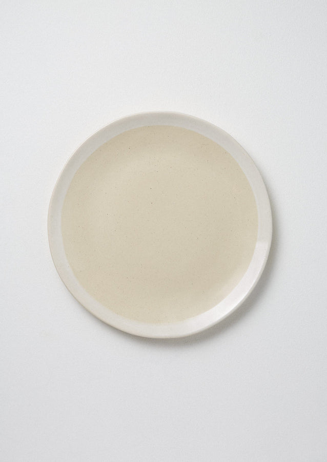 Wonki Ware White Wash Dinner Plate | Natural/White