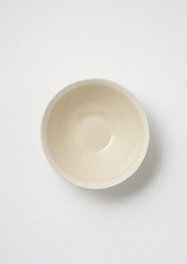 Wonki Ware White Wash Pasta Bowl | Natural/White