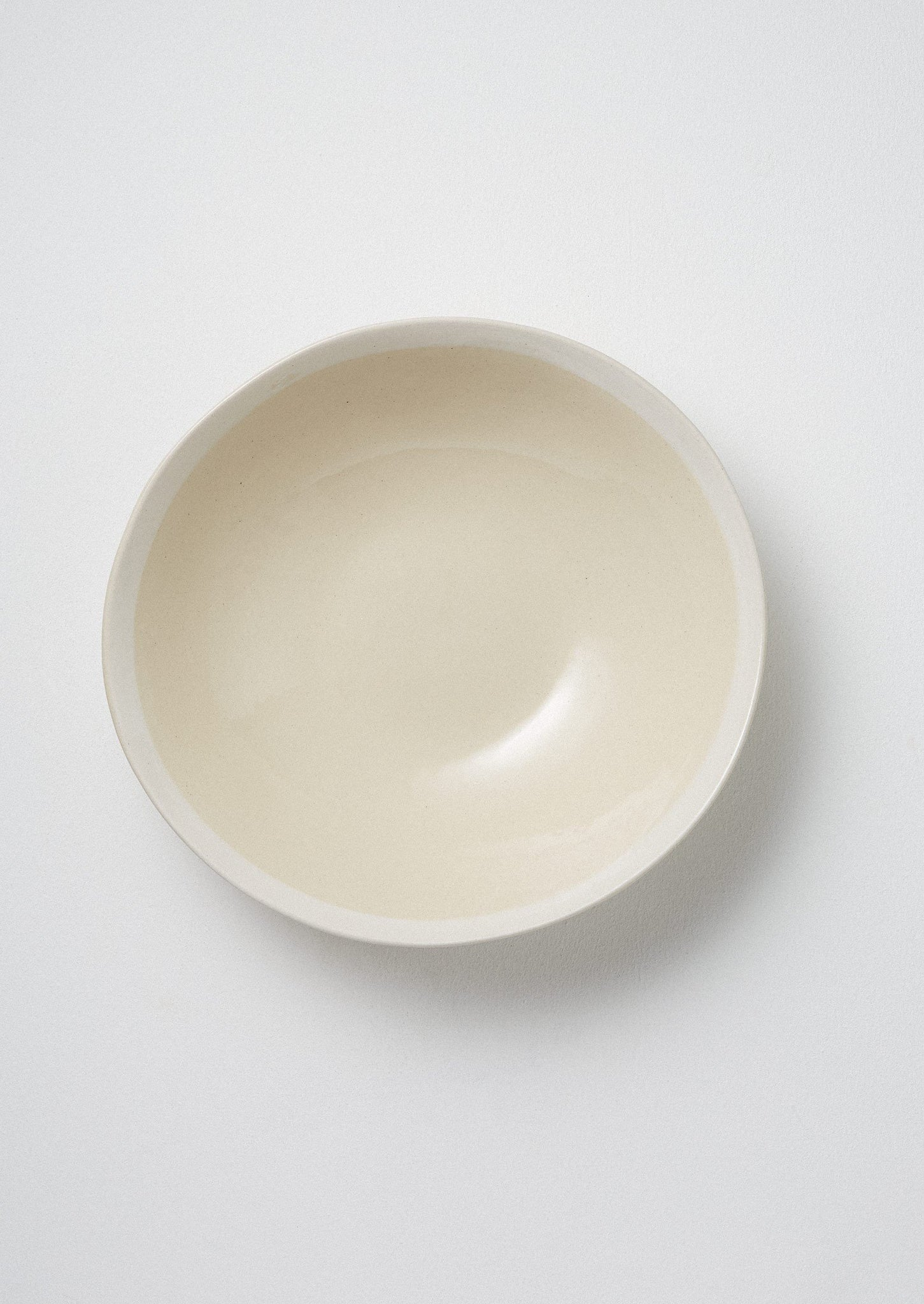 Wonki Ware White Wash Salad Bowl | Natural/White