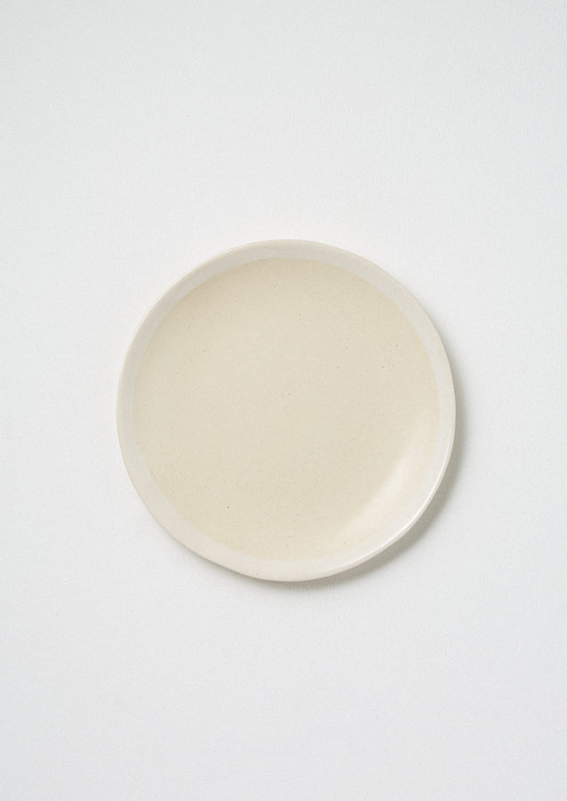 Wonki Ware White Wash Side Plate | Natural/White