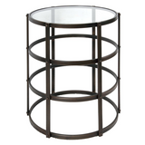 Metal Occasional Table with Glass Top