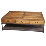 Coffee Table with Metal Shelf