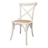 Cross Back Chair - Antique White