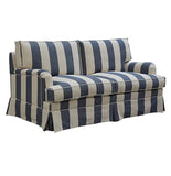 Daytona Striped Blue Sofa