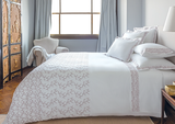 Starlet White/Mauve Duvet Set - King