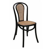 Bentwood Chair Black with Chestnut Cane