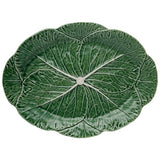 Cabbage Oval Platter 43 Natural