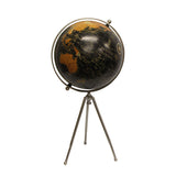 Large Black Globe on Black Stand