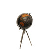Small Black Globe on Stem Tripod