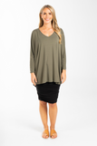 Long Sleeve Hi Low Miracle Top - Free Size